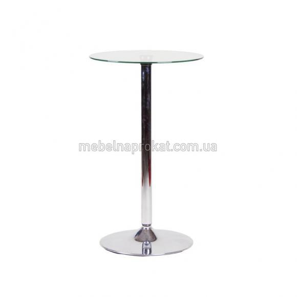 Стеклянные барные столы