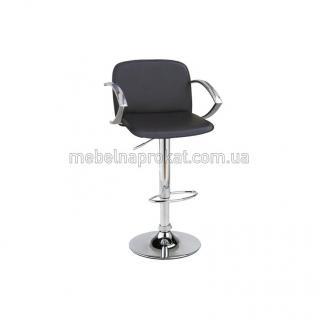 Барные стулья LUX с подлокотниками черные