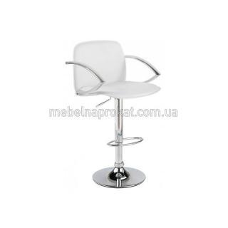 Барные стулья LUX с подлокотниками белые