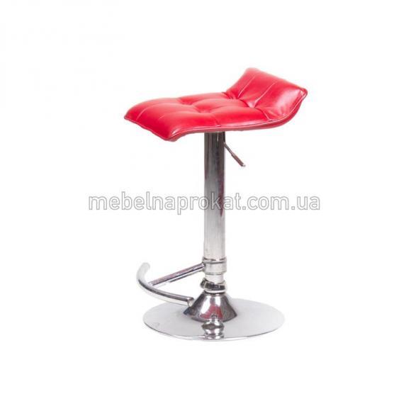 Красные барные стулья Волна