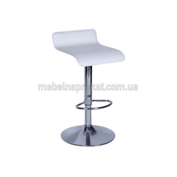 Белые барные стулья Волна