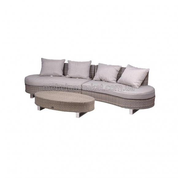 Ротанговый диван полукруглый аренда в Киеве