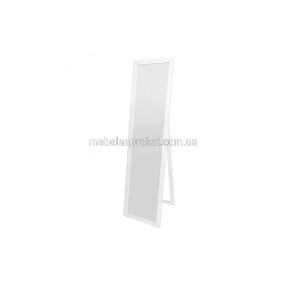 Зеркало напольное в белой оправе Эконом