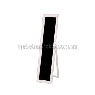 Зеркало напольное в белой оправе узкое