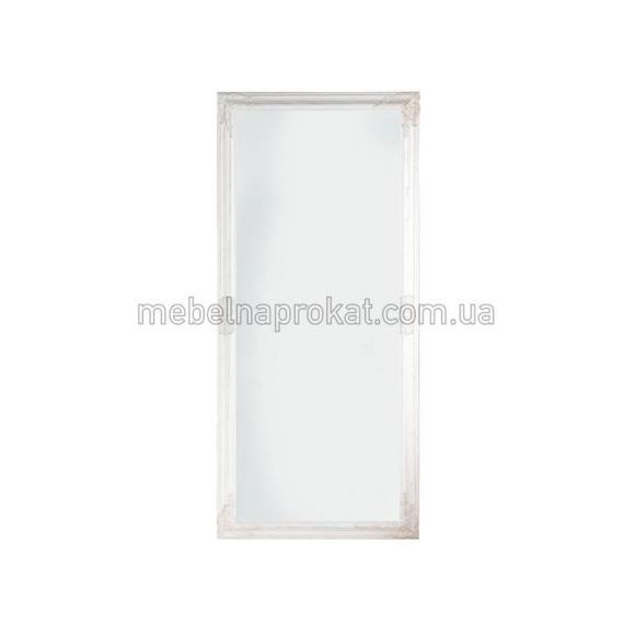 Зеркало напольное в белой оправе широкое
