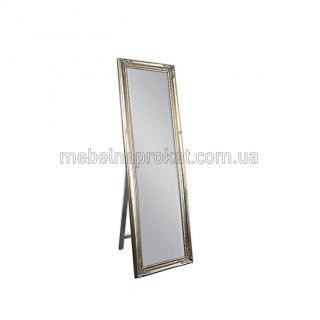 Зеркало напольное в золотой оправе широкое