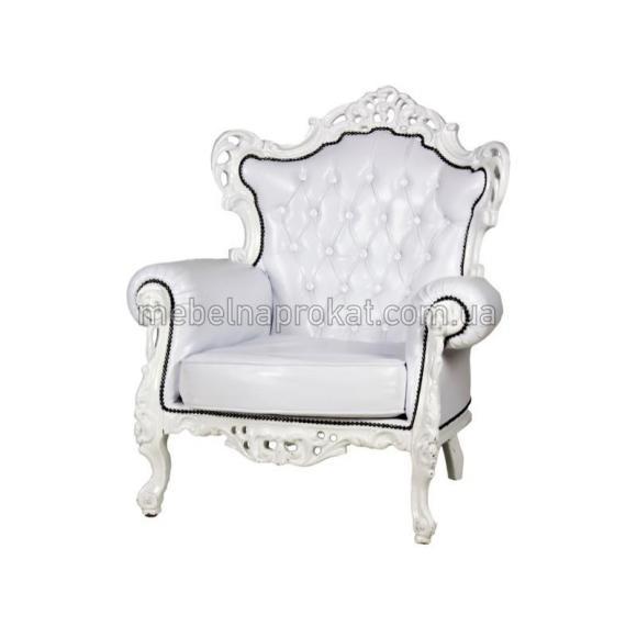 Кресло Барокко белое