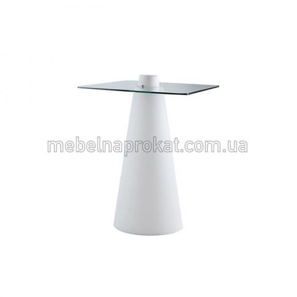 Барные столы с подсветкой с квадратной столешницей