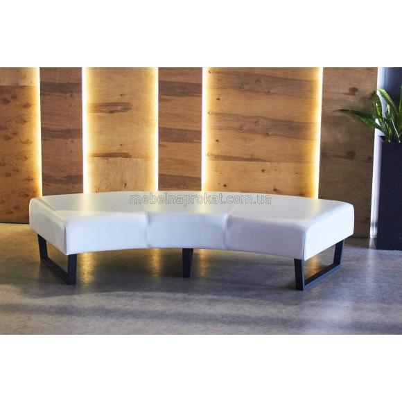 Круглые секционные диваны без спинки