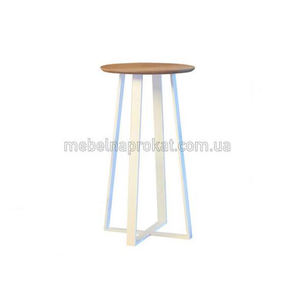 Барные столы Лофт круглые белые