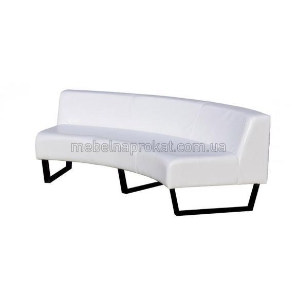 Круглые секционные диваны со спинкой