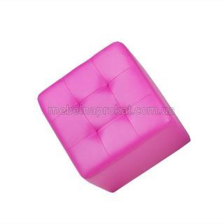Пуфы 45х45 см розовые