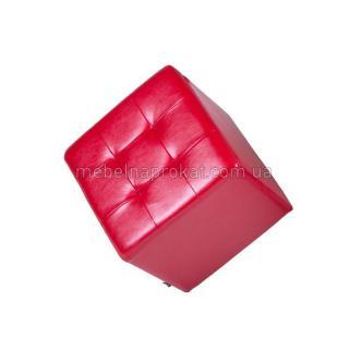 Пуфы 45х45 см красные