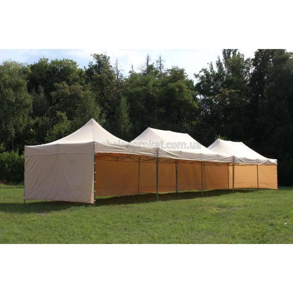 Бежевый шатер 8х4 метра
