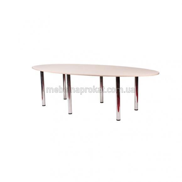 Овальный стол для переговоров светлый