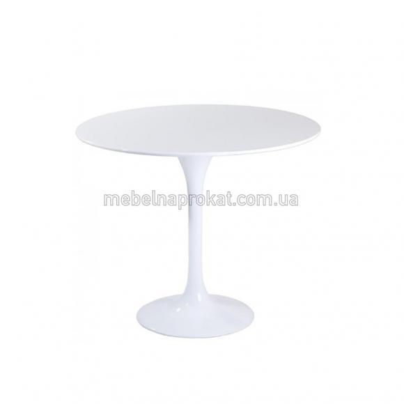 Белые столы Тюльпан д80см