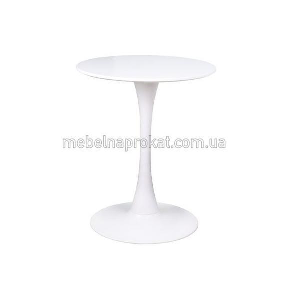 Белые столы Тюльпан д60см