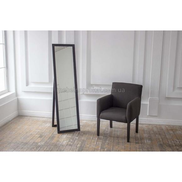 Зеркало напольное в черной оправе Эконом
