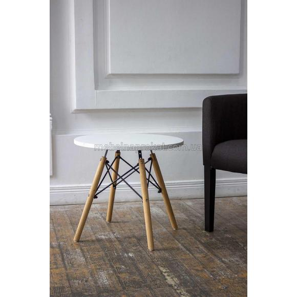 Журнальные столы Tower wood белые