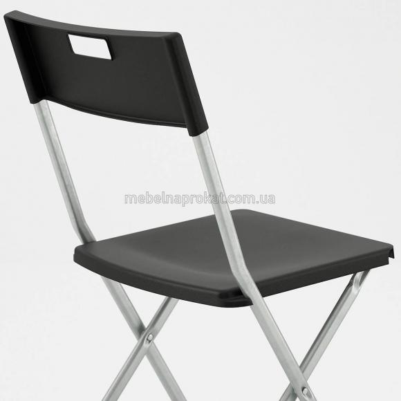 Складные стулья Икеа черные