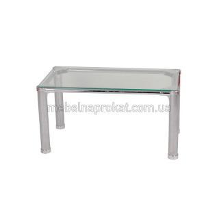 Стеклянный прямоугольный стол