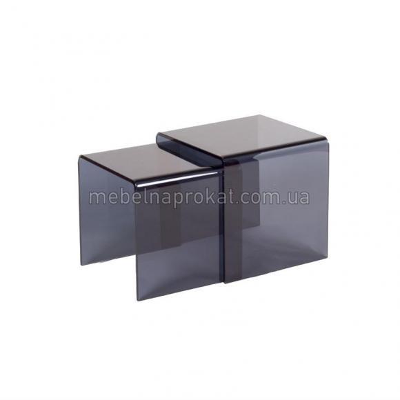 Стеклянные журнальные столы Вулкано тонированые