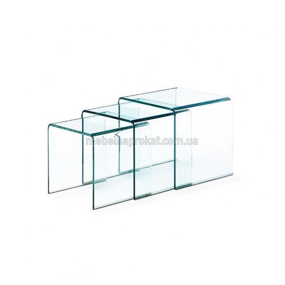 Стеклянные журнальные столы Вулкано